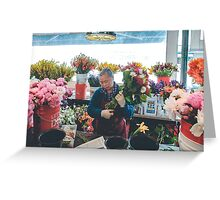 Bouquets in Seattle Greeting Card
