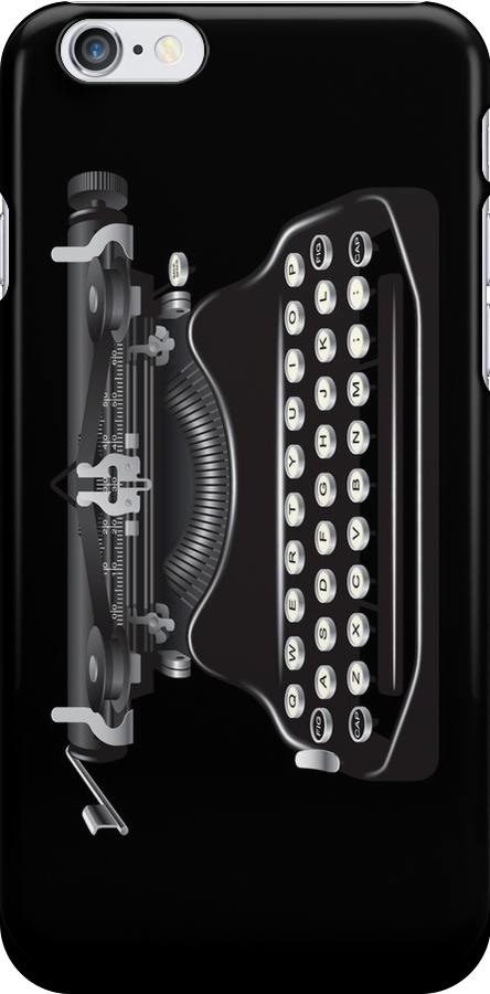 Vintage Typewriter Machine iPhone 4 Case / iPad Case /  iPhone 5 Case  / Samsung Galaxy Cases / Pillow / Tote Bag  by CroDesign