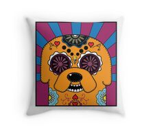 Jake's time of Adventure Throw Pillow