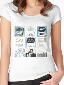 tfios collage tshirt Women's Fitted Scoop T-Shirt