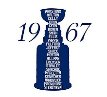 TML Stanley Cup Team 1967 Photographic Print