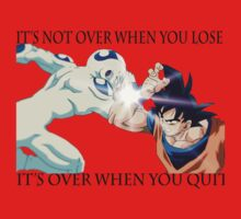 It's not over when you quit - goku vs freeza by noorysiar