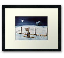 Lunar Shadows Framed Print
