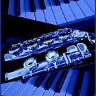 Playing The Blues - Flute and Piano Collage by SunriseRose