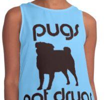 Pugs Not Drugs Contrast Tank
