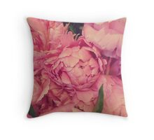 Pinky Peonies Throw Pillow