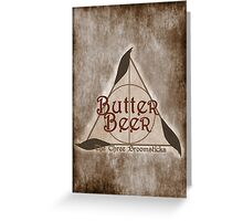 Fictional Brew - Butterbeer Greeting Card