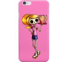 Skeleton Pin Up Girl Waitress iPhone Case/Skin