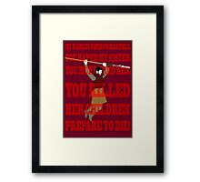 Hello, My Name Is Oberyn Martell - Game of Thrones Framed Print