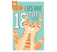 Cats have 18 Toes Photographic Print