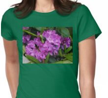 Beautiful Rhododendron Blossoms Womens Fitted T-Shirt