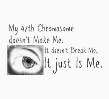 47th Chromosome T-shirt by Mardra