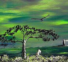 Moomintroll and Lighthouse by Anastasiya Malakhova