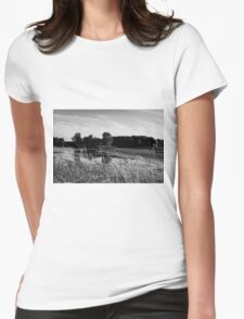 Bombay Landscape (B&W) Womens Fitted T-Shirt