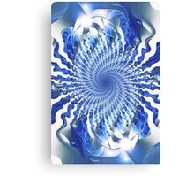 Blue Focal Point Canvas Print