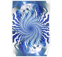 Blue Focal Point Poster