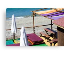 Terrace bar at the beach. Canvas Print