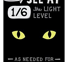 Cats can see at 1/6th the light level as needed by Humans by missmewow