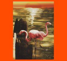Sunrise Flamingo Kids Tee