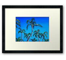 Palm Tops Framed Print