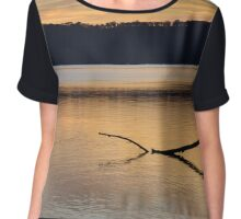 Lake Sunset Chiffon Top