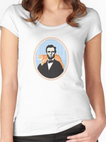 Lincoln was the first president to bring a cat to the white house. Women's Fitted Scoop T-Shirt