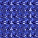 Ahoy Matey! Anchors in Nautical Blues by Cherie Balowski