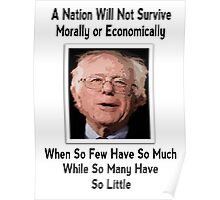 A NATION...(BERNIE QUOTE) Poster