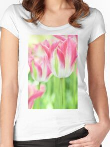 Tulips in Pink Women's Fitted Scoop T-Shirt
