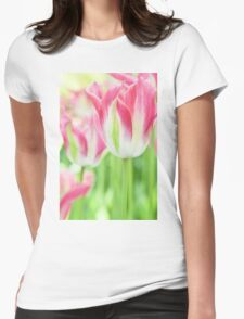 Tulips in Pink Womens Fitted T-Shirt