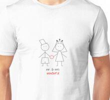 mr. & mrs wonderful Unisex T-Shirt