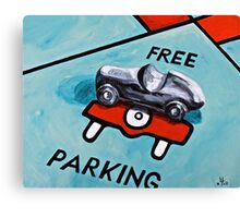 Free Parking  Canvas Print