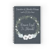 REMAIN LOYAL TO JEHOVAH! (NAVY BLUE) Spiral Notebook