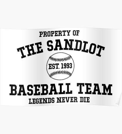 The Sandlot Baseball team Poster