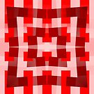 Red Square/Star Pattern Cushion (2 of 2, please read description) and Tote Bag by Ra12