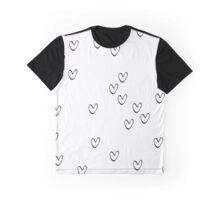 Monochrome hearts Graphic T-Shirt