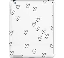 Monochrome hearts iPad Case/Skin