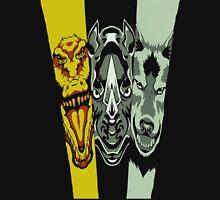Zyuoh The World - Rhino, Crocodile, Wolf Unisex T-Shirt