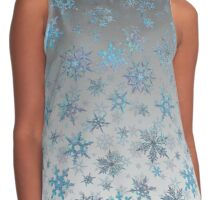 Embroidered Snowflakes on light Contrast Tank