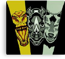 Zyuoh The World - Rhino, Crocodile, Wolf Canvas Print