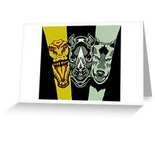 Zyuoh The World - Rhino, Crocodile, Wolf Greeting Card