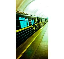 The City subway. Photographic Print