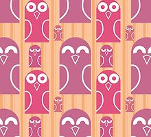 Owls seamless by megaspy