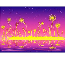 Alien Fire Flowers Photographic Print