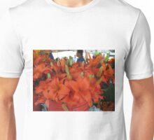 Vibrant flower selcetion at Farmer's Market Unisex T-Shirt