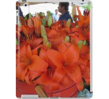 Vibrant flower selcetion at Farmer's Market iPad Case/Skin