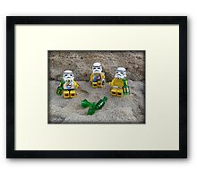Stormtroopers Holiday Framed Print