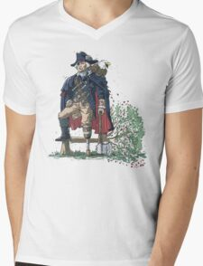 GEORGE WASHINGTON FOUNDING PIRATE FATHER Mens V-Neck T-Shirt
