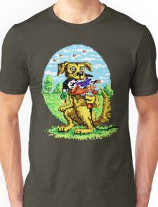 8-BIT DOG HUNTS DUCK Unisex T-Shirt