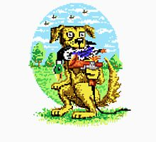 8-BIT DOG HUNTS DUCK Men's Baseball ¾ T-Shirt